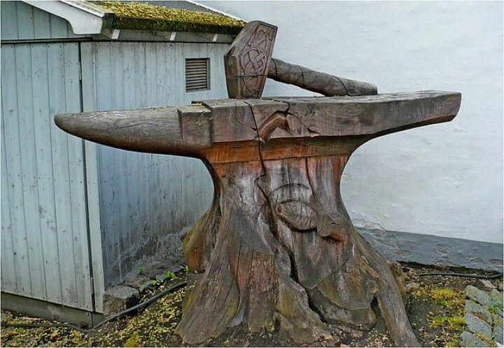 Thor S Hammer Anvil Blacksmithing Carving Blacksmith Hammer