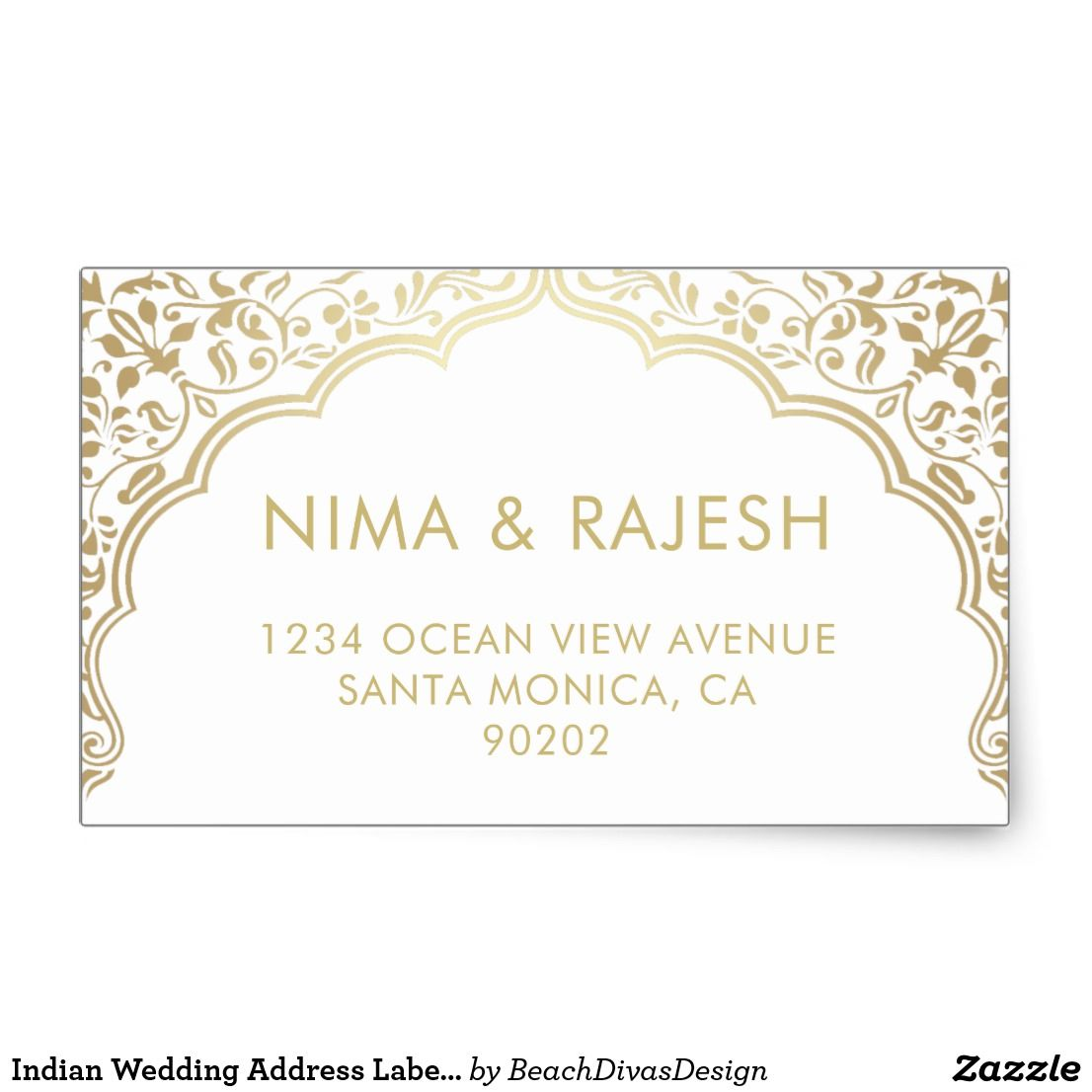 Indian Wedding Address Labels Wedding Stickers Zazzle Com In 2020 Wedding Stickers Wedding Address Labels Wedding Address