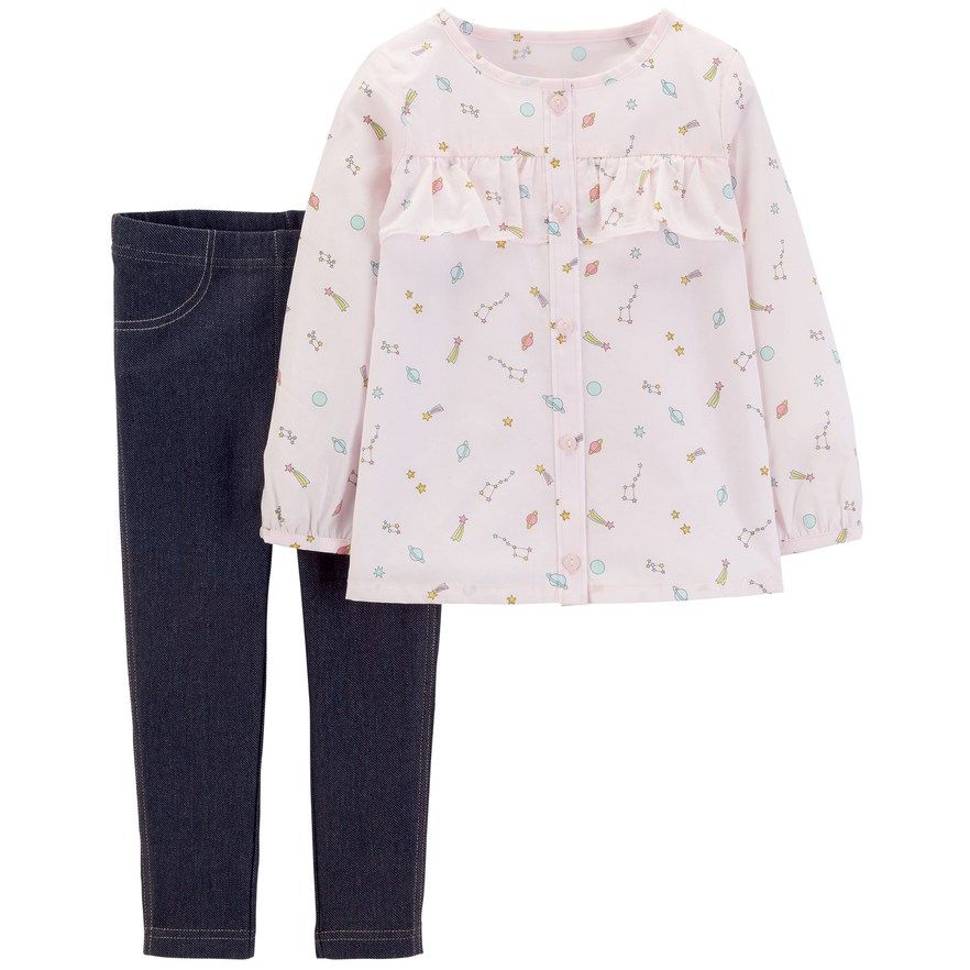 0e92039c71968 Toddler Girl Carter's Constellation Top & Jeggings Set | Products ...
