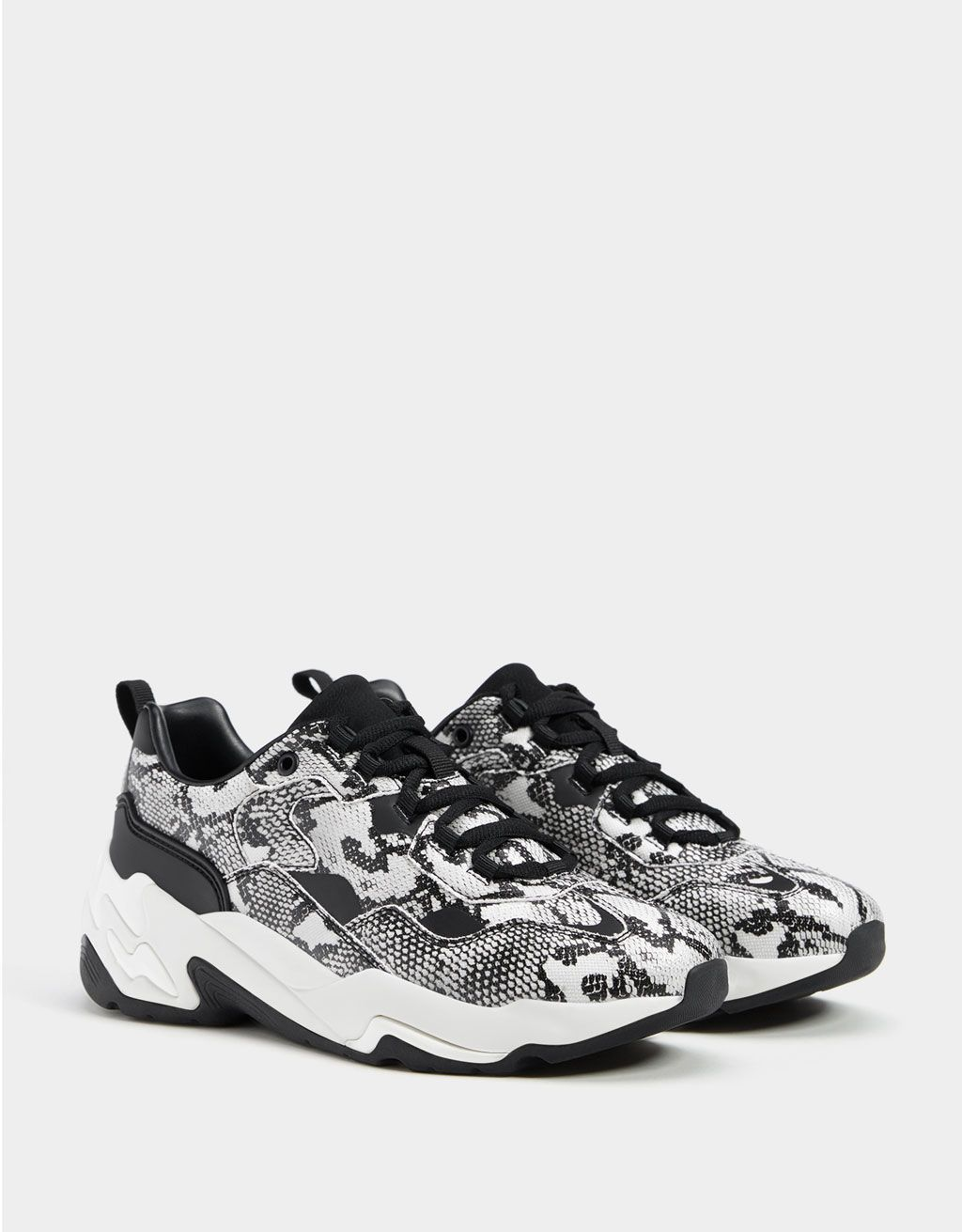 3f038e3a8409 Animal print platform trainers. Discover this and many more items in Bershka  with new products every week