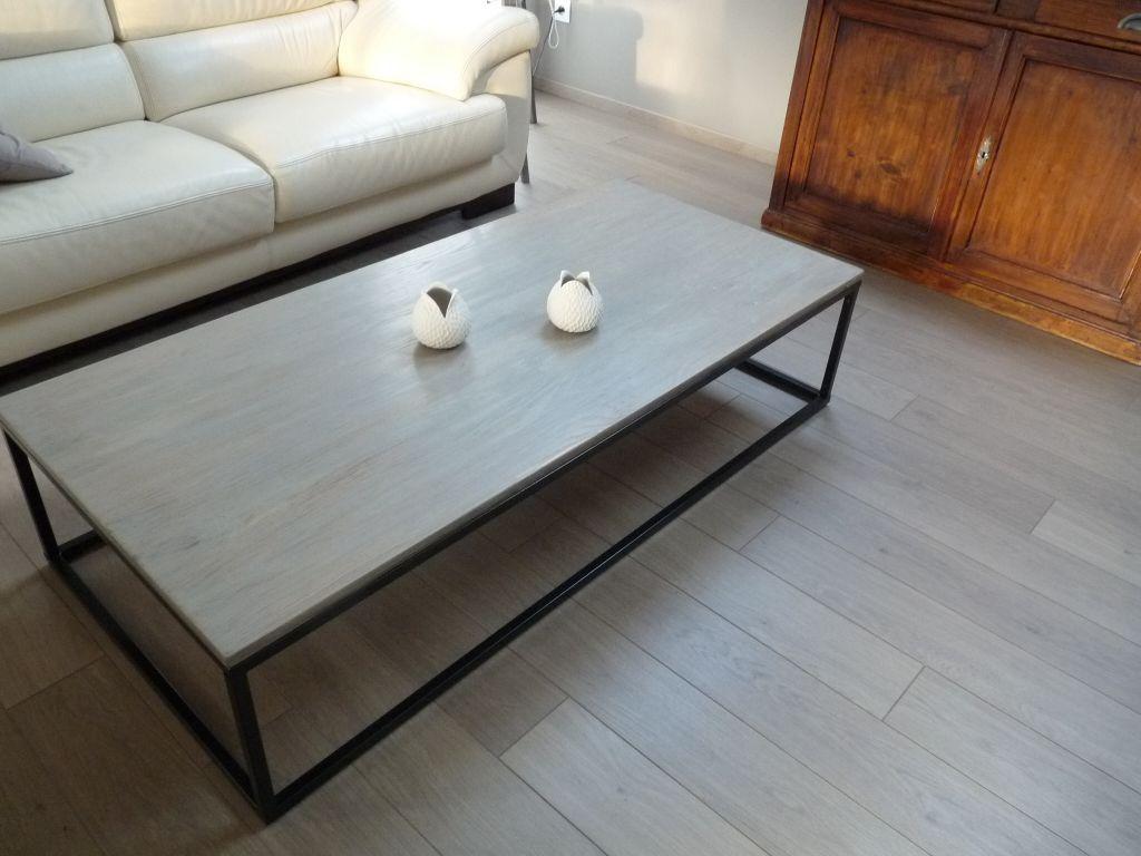 la table basse repeinte vieillisseur bois aspect bois flott v33 sols pinterest diy. Black Bedroom Furniture Sets. Home Design Ideas