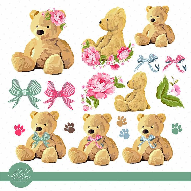 Teddy Bear Clipart Vintage Teddy Bear Teddy Bear Png Etsy Teddy Bear Images Teddy Bear Clipart Clip Art Vintage
