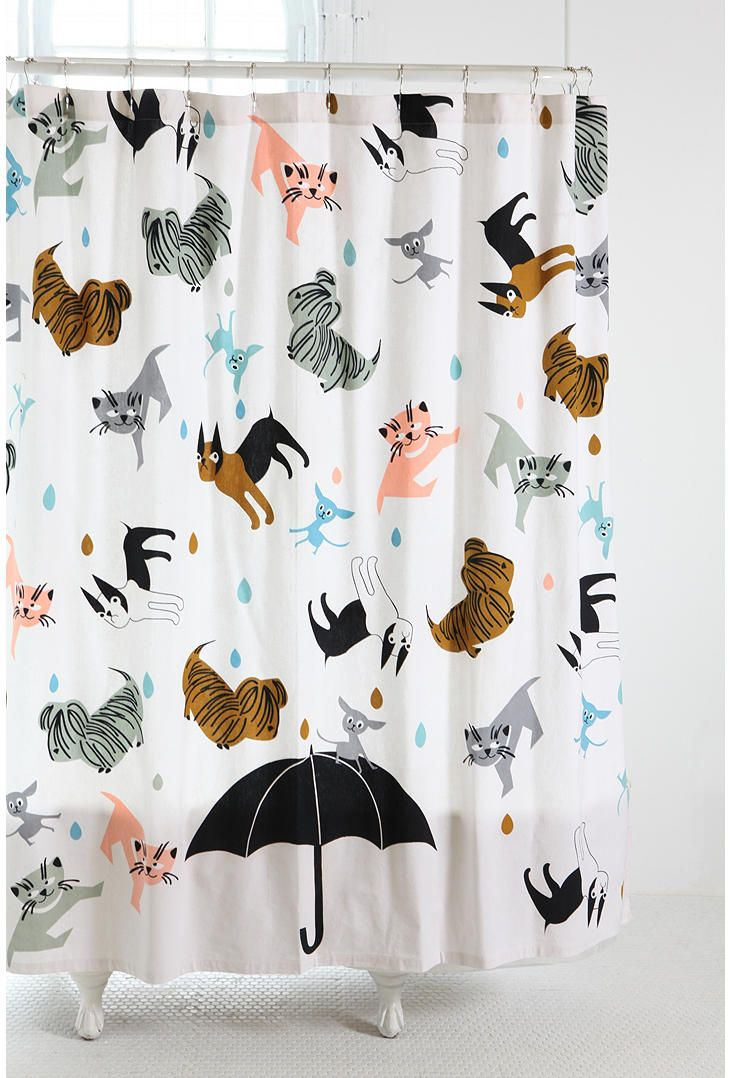 Raining Cats And Dogs Shower Curtain LOVE This Pattern