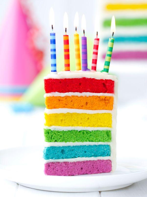 Rainbow Cake En 2018 Recettes Pinterest Gateau Anniversaire