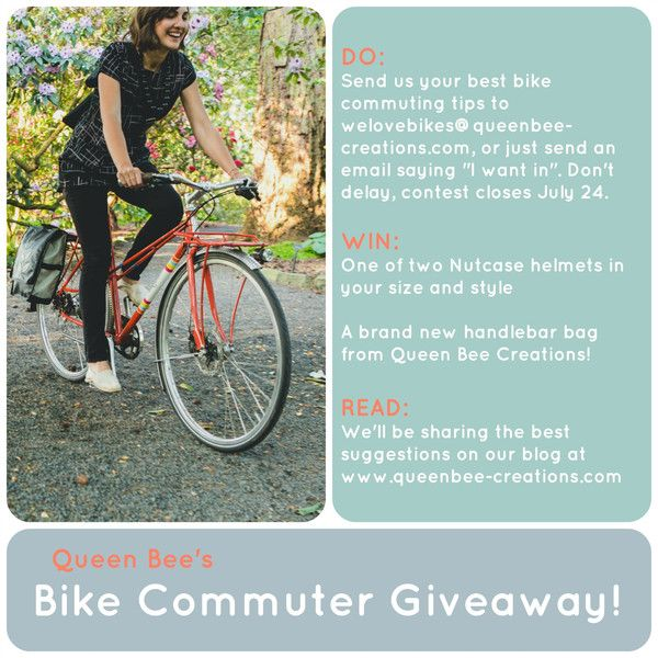 CONTEST! PRIZES! Tell Us Your Best Bike Commuting Tips | Queen Bee by Rebecca Pearcy