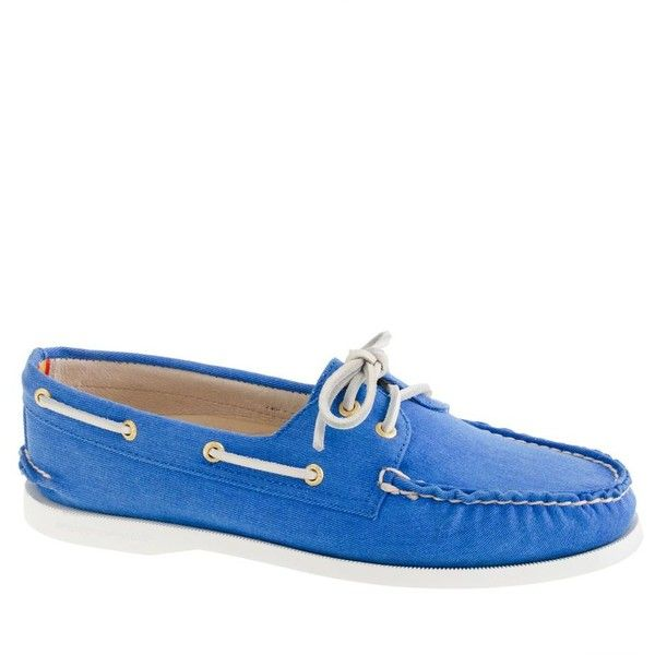Sperry Top-Sider® for J.Crew Authentic Original 2-eye boat shoes in... ($98) ❤ liked on Polyvore