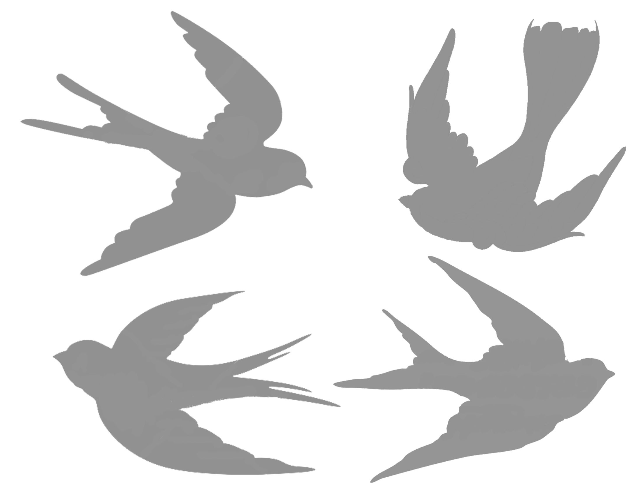 Swallow silhouettes u pinteresu