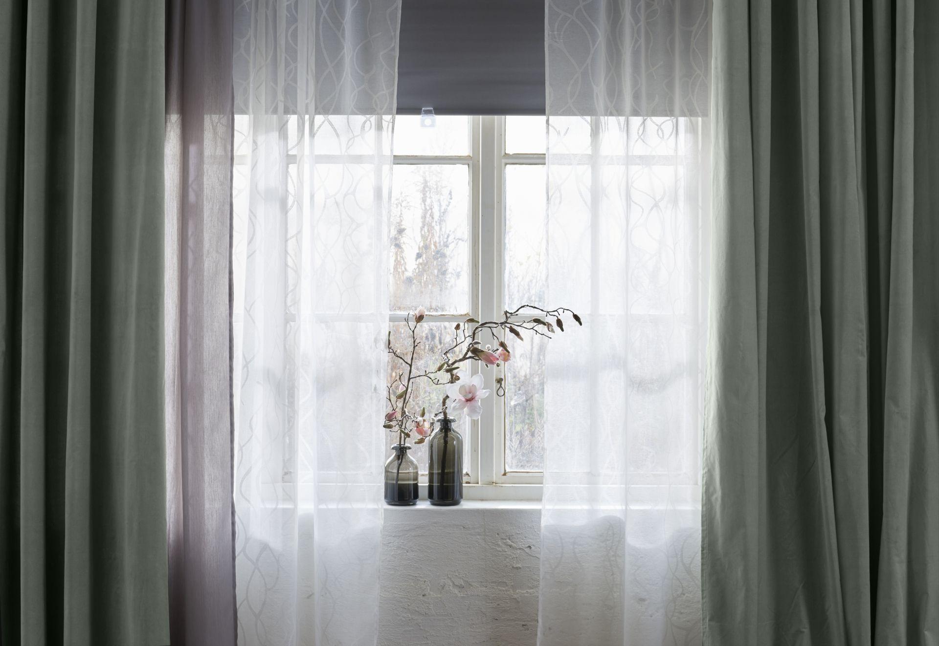 Tende Trasparenti Ikea : SparvÖrt cortinados transparentes 1 par branco tende living