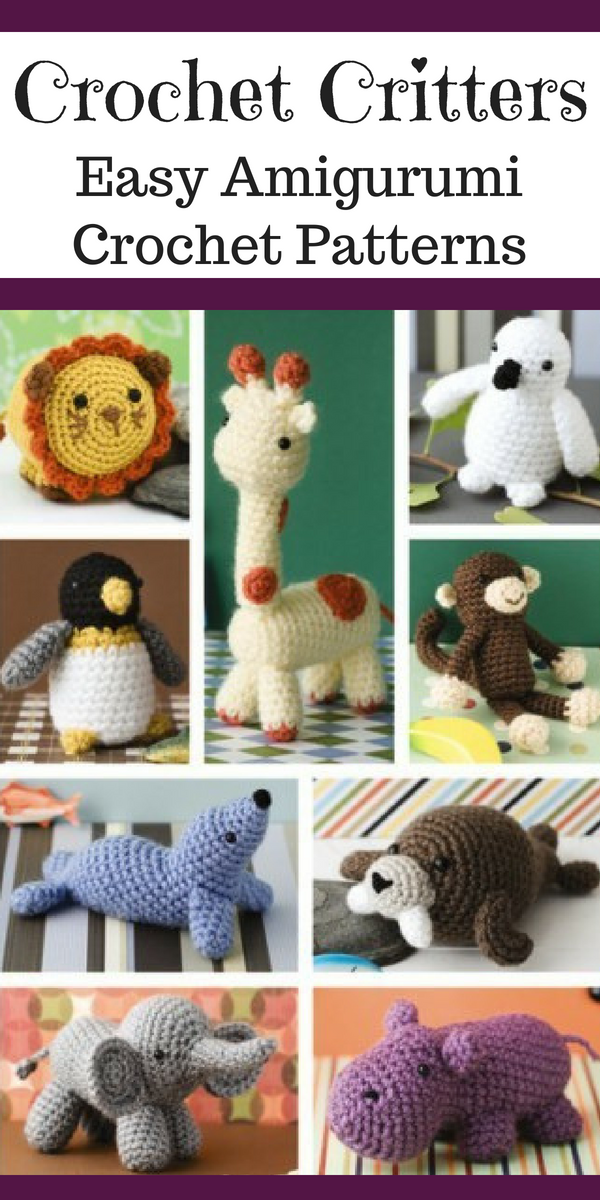 Amigurumi Critters Crochet Patterns Includes Patterns For Lion