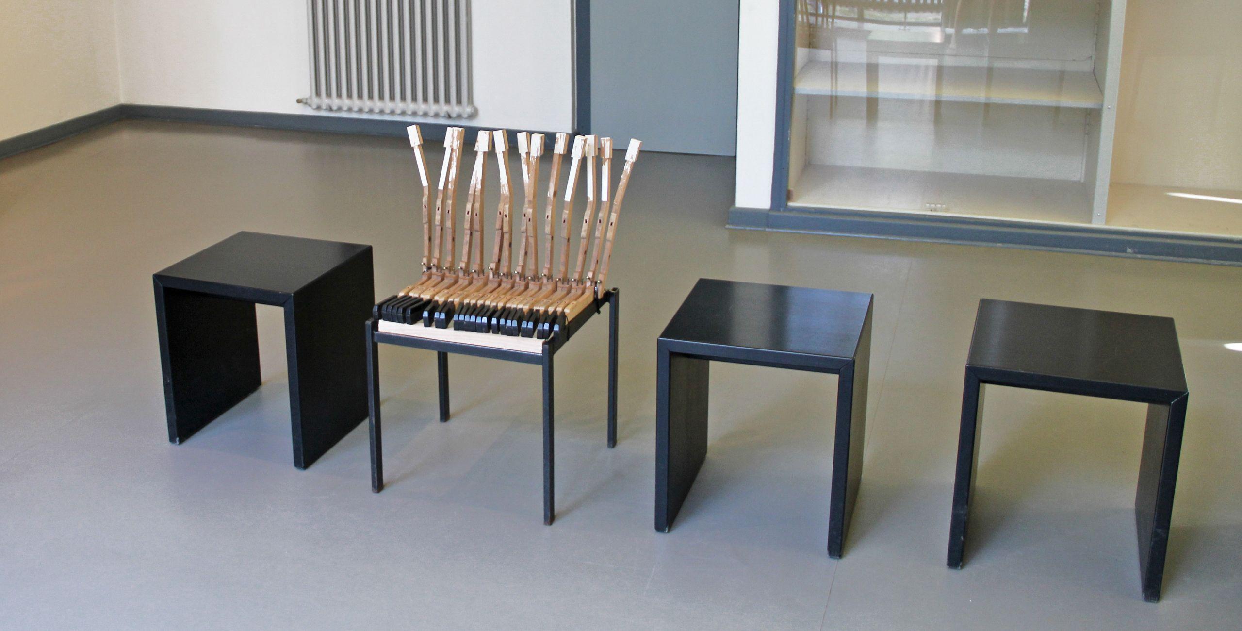 Im Entstand Möbelhauerei Objekt Stuhl Rahmen Der Des Piano 54RL3Aj