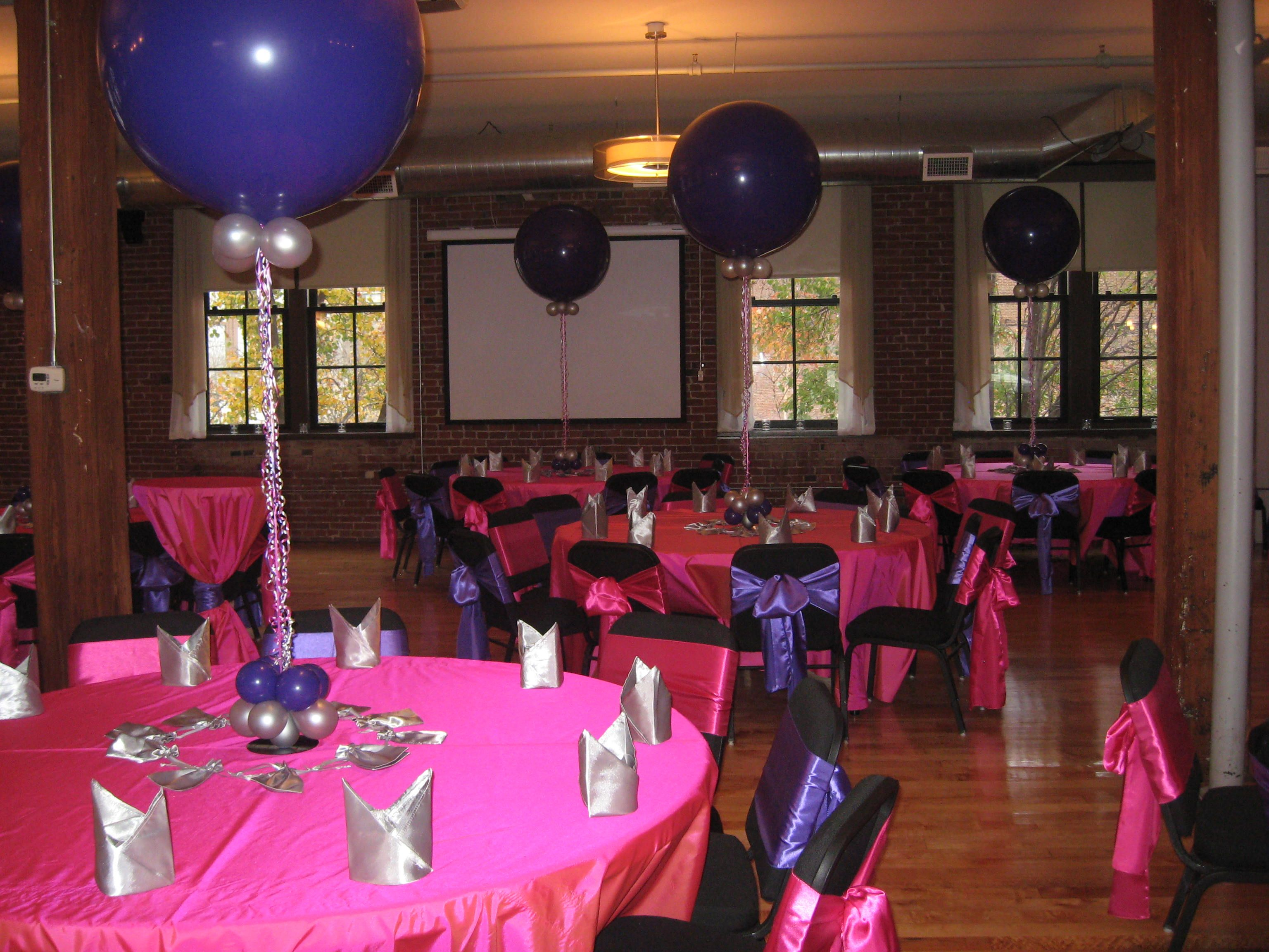 Sweet 16 balloon decorations birthday party http for 16th party decoration ideas