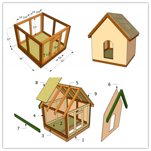 How To Make A Simple Doghouse Step By Step Diy Tutorial Instructions Dog Kennel Outdoor Dog House Diy Dog Houses