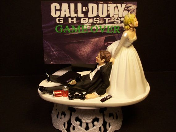 Video Game Call of Duty GOASTS Game Over Bride and Groom Funny Wedding Cake Topper on Etsy, $79.99