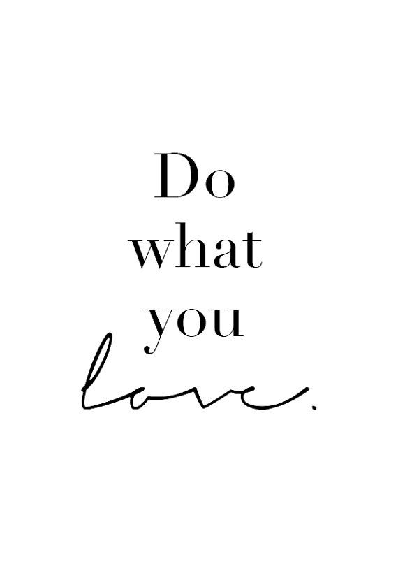 Do What You Love Inspirational Quotes Motivational Poster | Etsy