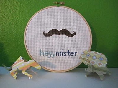 Mustache Embroidery