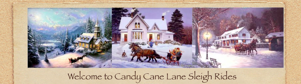 Candy Cane Lane Sleigh Rides (With images) Sleigh ride