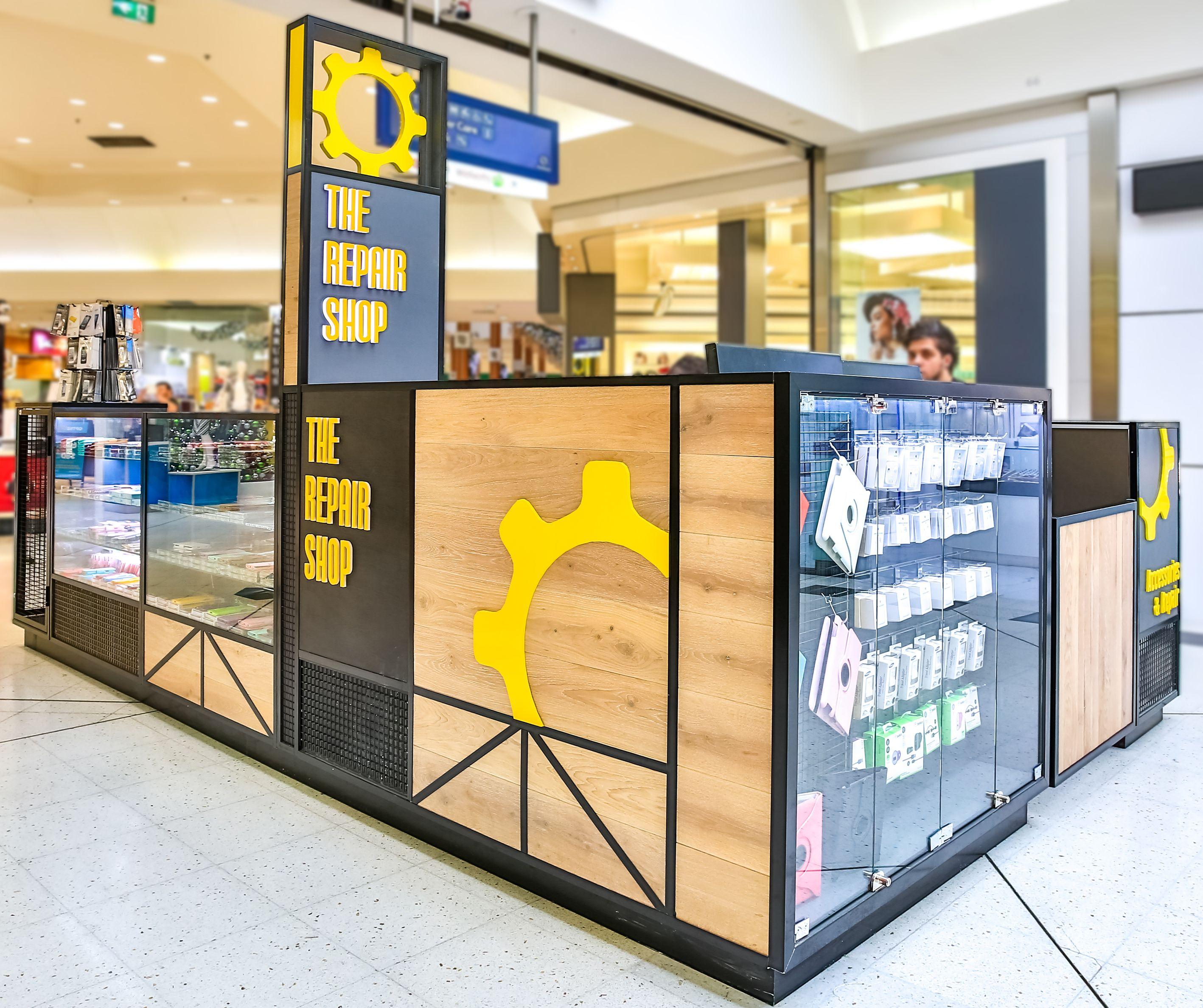 Image result for metal frame retail kiosk wyspa rustic for Mobili kios