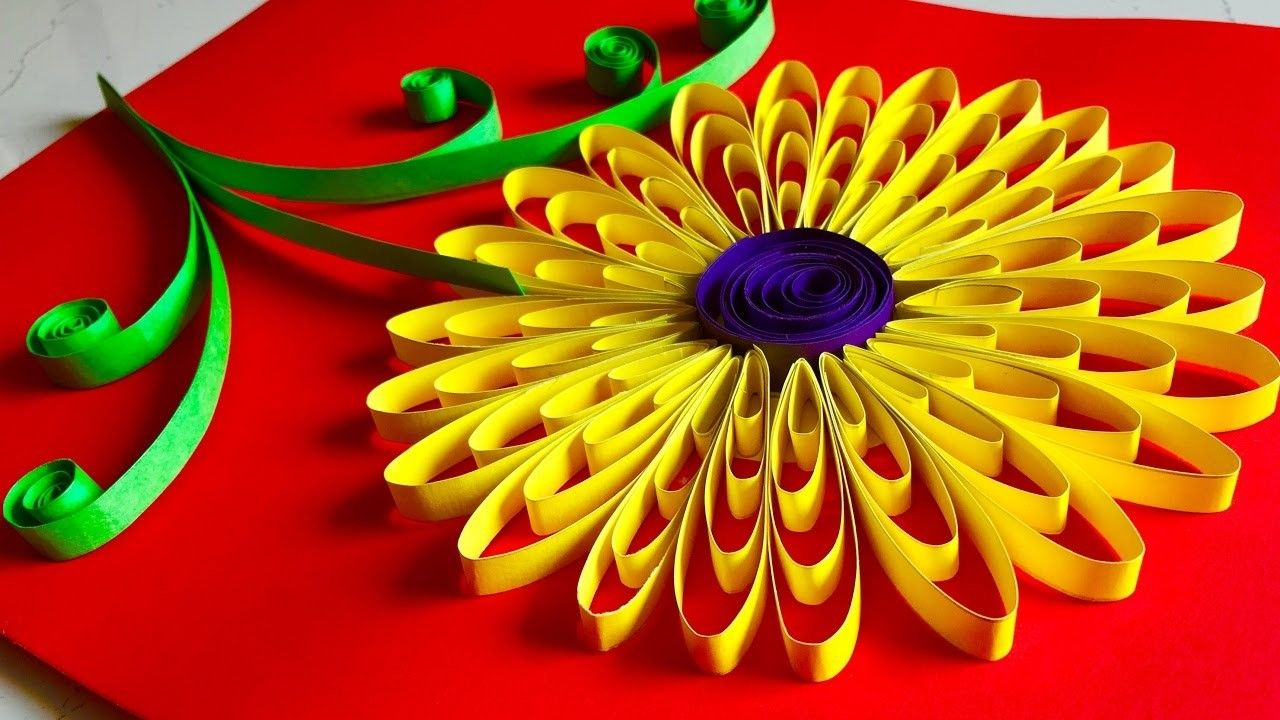 Quilling flowers tutorial - Sunflower | Quilling flowers tutorial ...