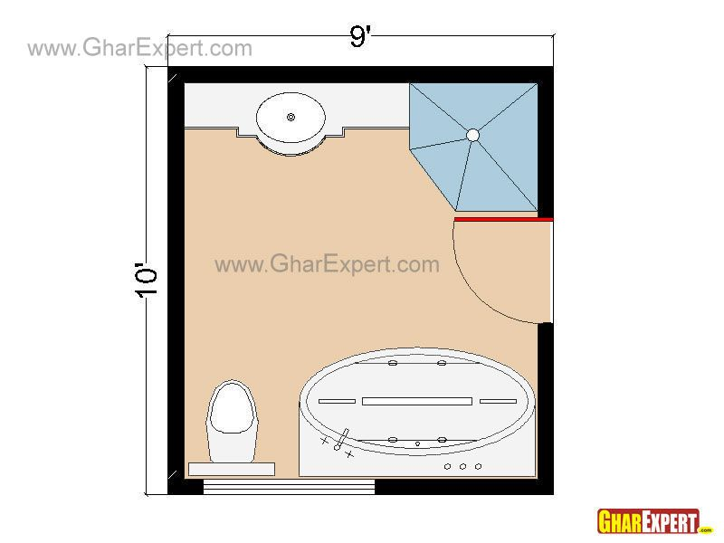 Luxury Bathrooms Plans luxury bathroom floor plan for 90 sq feet bathrooms | bathroom