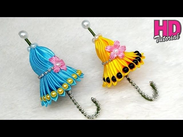 DIY - How To Make Satin Ribbon || Umbrella || Kanzashi Flowers