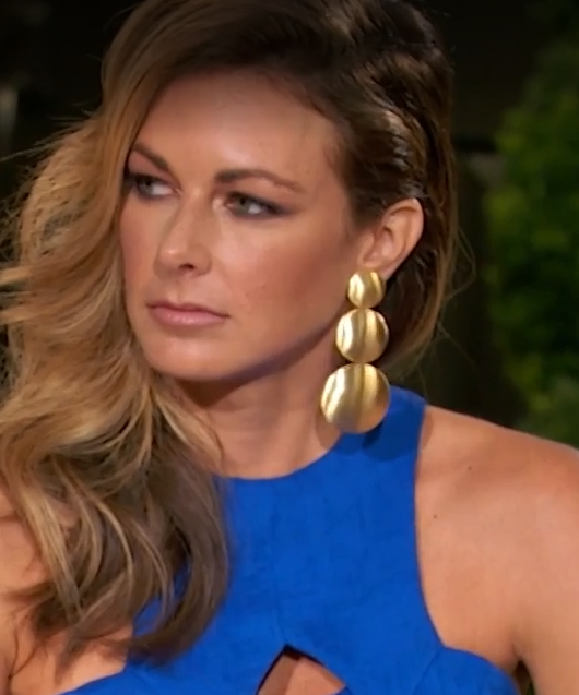 3b902022e Chelsea Southern Charm Reunion Earrings Greta Smooth Gold Lisi Lerch  Earrings at HAUTEheadquarters.com
