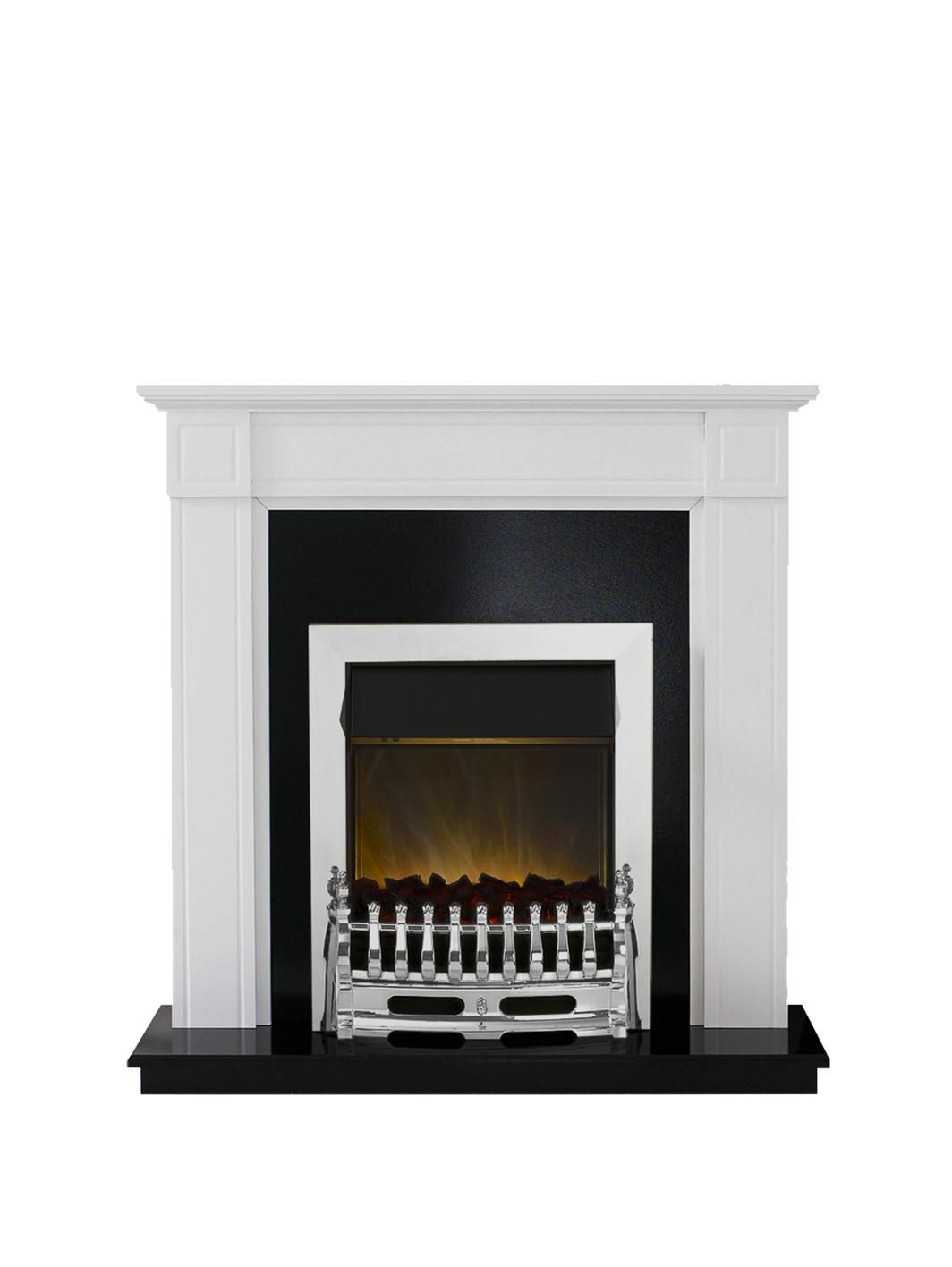 Cheminee Ethanol Melrose Adam Fire Surrounds Georgian White Electric Fireplace Suite With