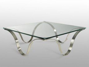 Design Gl Metal Modern Square Coffee Tables