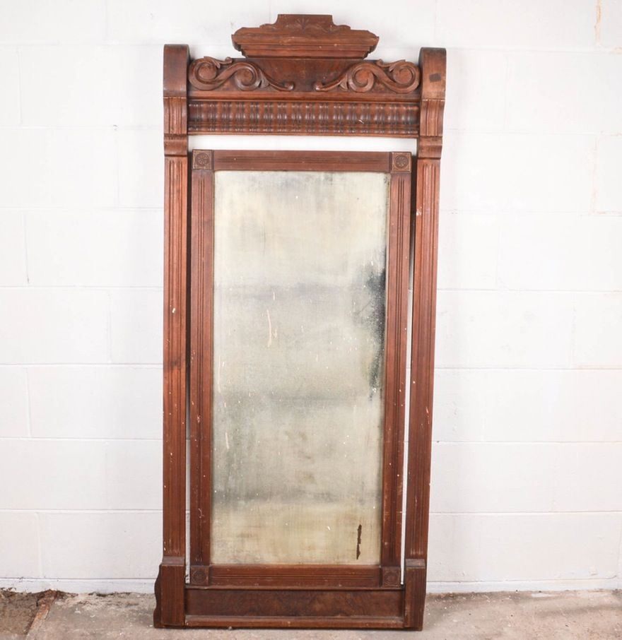 Antique Mirror with Frame | Mirror, Antiques, Frame