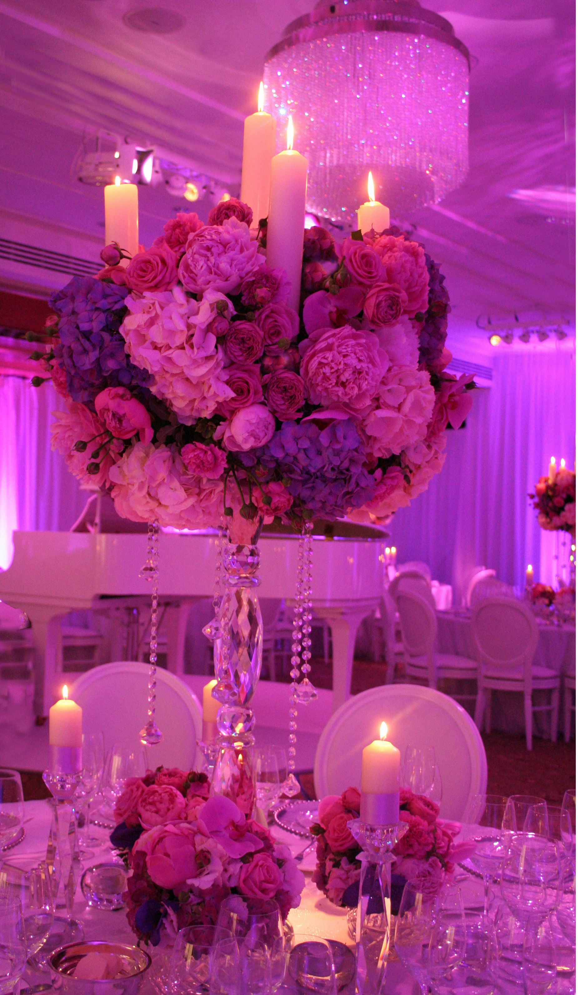 Lilac wedding decoration ideas  Wedding at the Four Seasons Park Lane London  fLOweR pOWeR