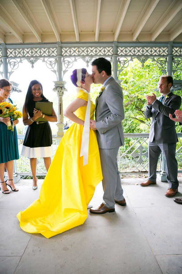 15 Yellow Dresses For Brides Who Want To Channel Their Inner Belle ...