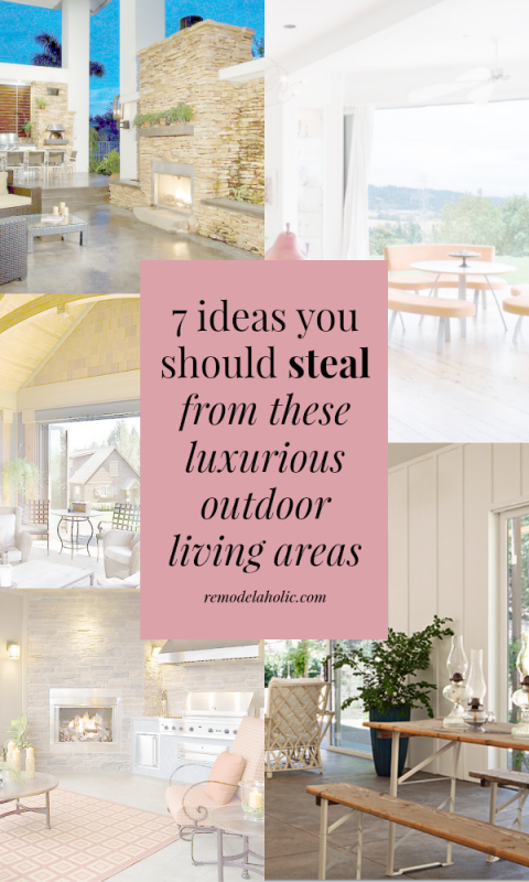 Take some notes from these high-end luxurious outdoor living spaces ...
