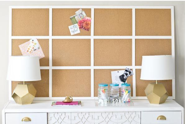 Custom fit a cork board above your desk with IKEA's AVSKILD Cork Placemat. It's a simple and stylish hack that will help you need track of everything on your to-do list. See more at Infarrantly Creative »