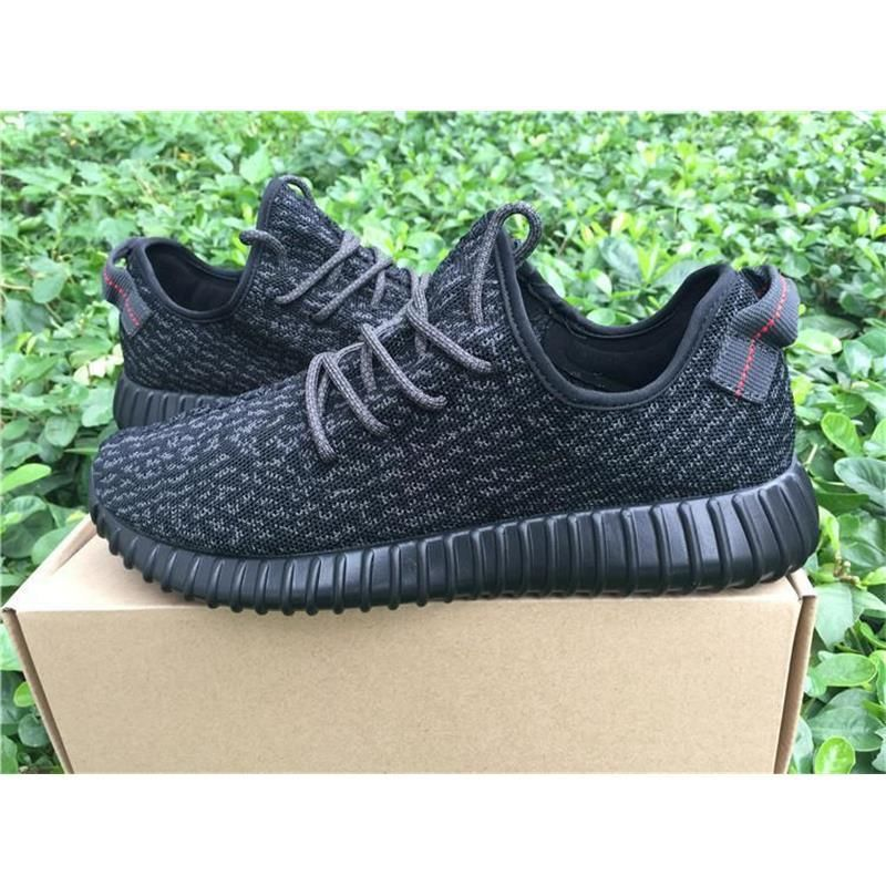 8212b8ead Kanye west Y 350 Boost Pirate Black Best Quality Black Pirates With ...