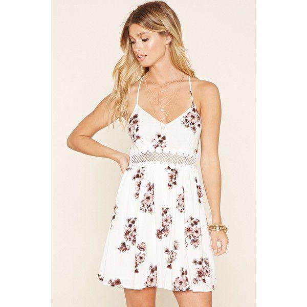 Forever 21 Women S Floral Crochet Cutout Dress Cute Floral Dresses Cutout Dress Dresses