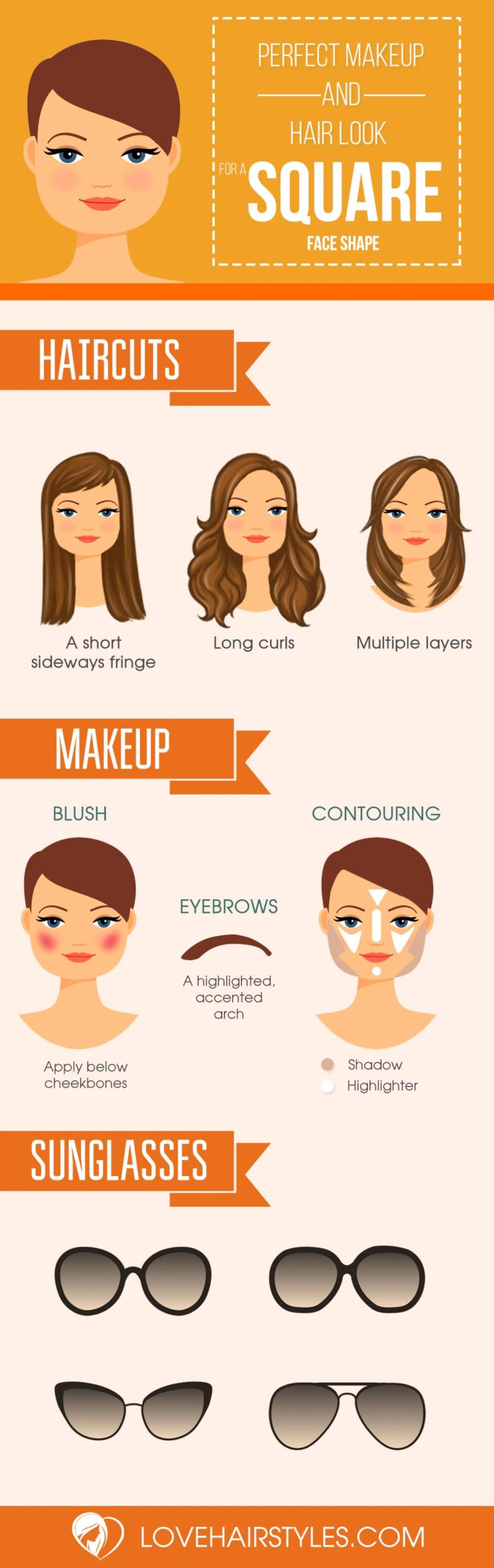 10 sexy hairstyles for square faces | makeup | pinterest | squares
