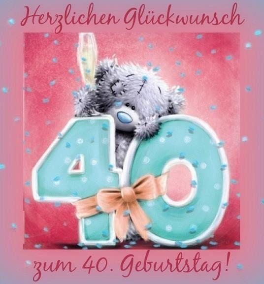 Herzlichen Gluckwunsch Zum 40 Geburtstag Tatty Teddy 40th