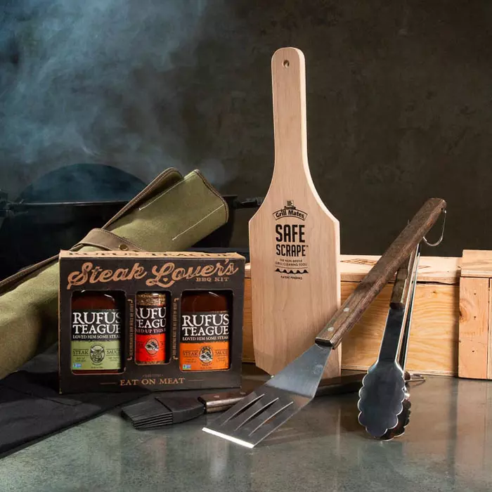 Men's Style Backyard Steakhouse Crate | Grilling Gifts for Guys  #Backyard #birthdaygiftsforguys #Crate #Gifts #Grilling #Guys #Mens #Steakhouse #Style
