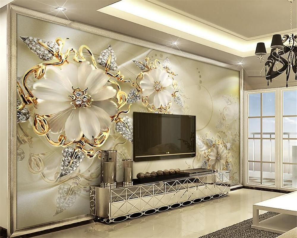 Wallpapers Painting Supplies & Wall Treatments Cheap Sale Beibehang Papel De Parede 3d American Pastoral Flowers Wall Paper Roll Living Room Bedroom Ceiling Mural Wallpaper For Walls 3d