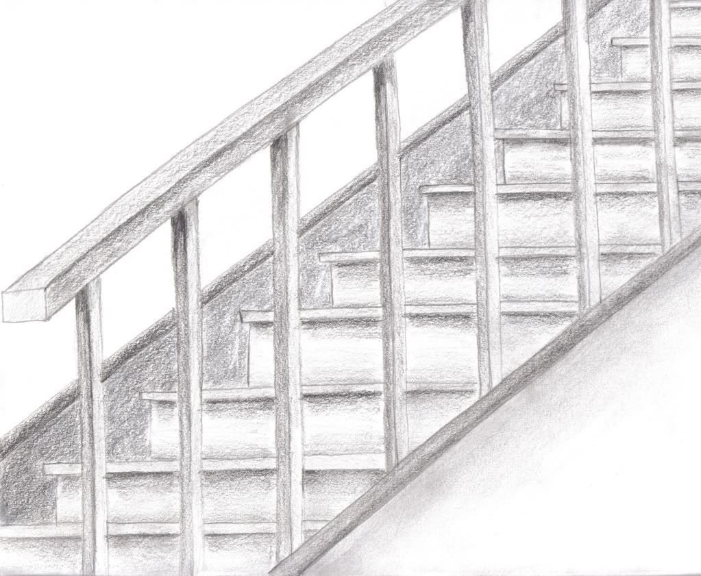 pencil stair drawing | Portfolio Work | | Page 2 ...