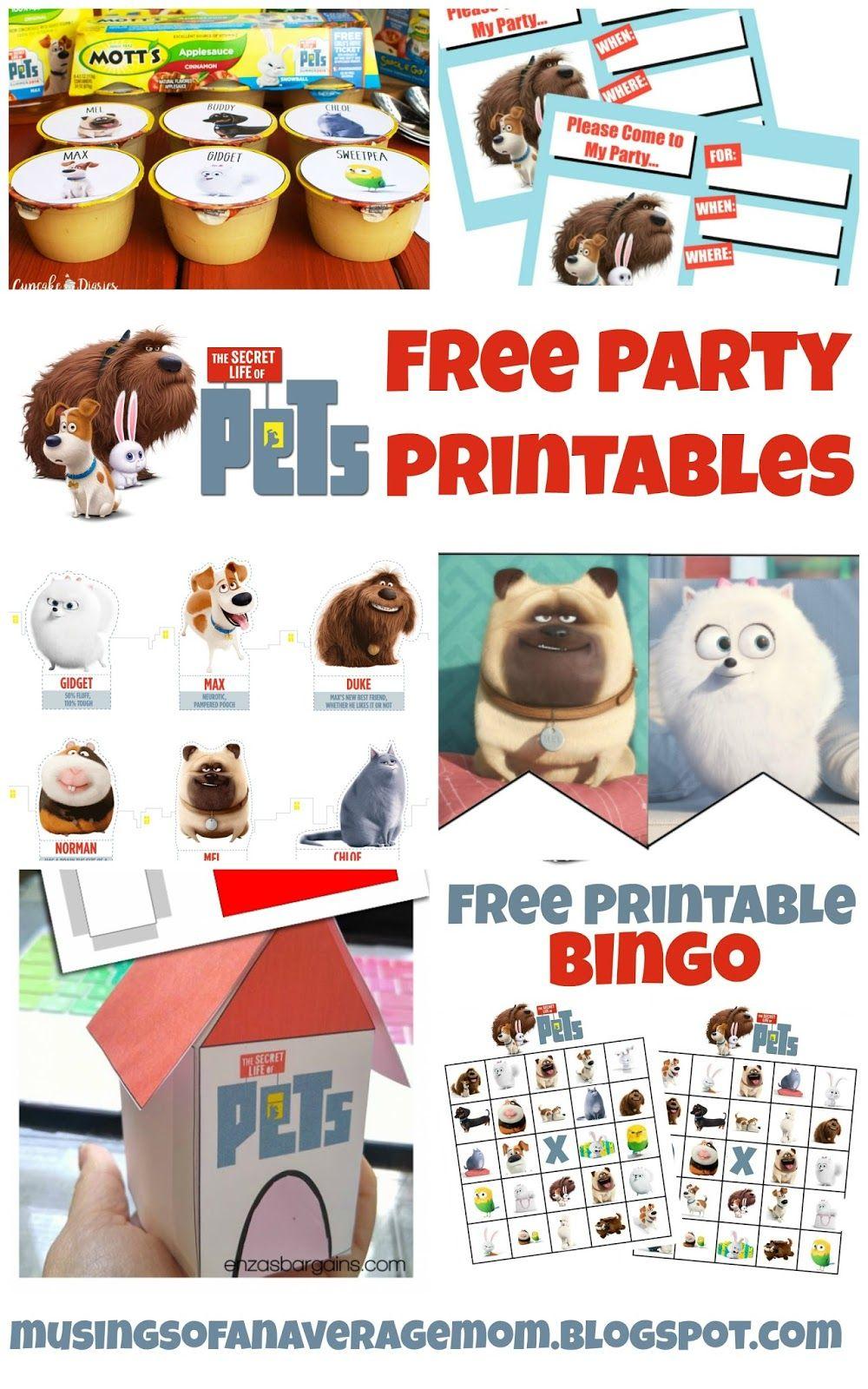 Free Secret Life Of Pets Party Printables Secret Life Of Pets Animal Party Puppy Birthday Parties