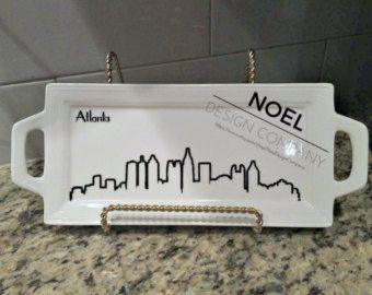 Atlanta Skyline Decorative Tray - NoelDesignCompany.Etsy.com