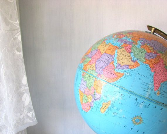 Vintage World Globe Crams World Globe Crams by PaperBoysVintage