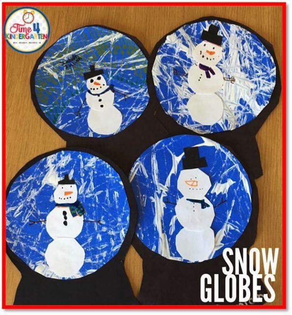 Winter Art, Kindergarten And Globe