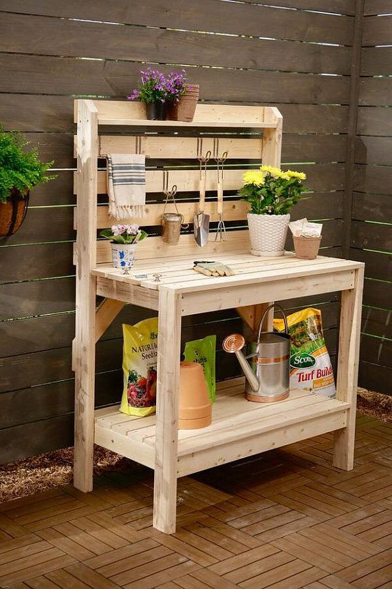 Outdoor Potting Bench Garden Work Station By Tracyscottllc On Etsy