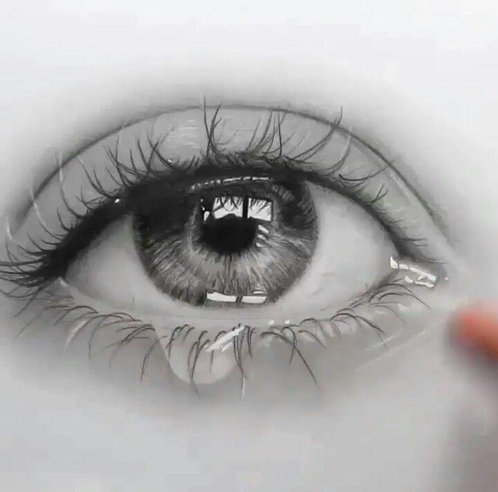 Ein Tränen echt gezeichnetes Auge...   Gezeichnetes   Pinterest ...
