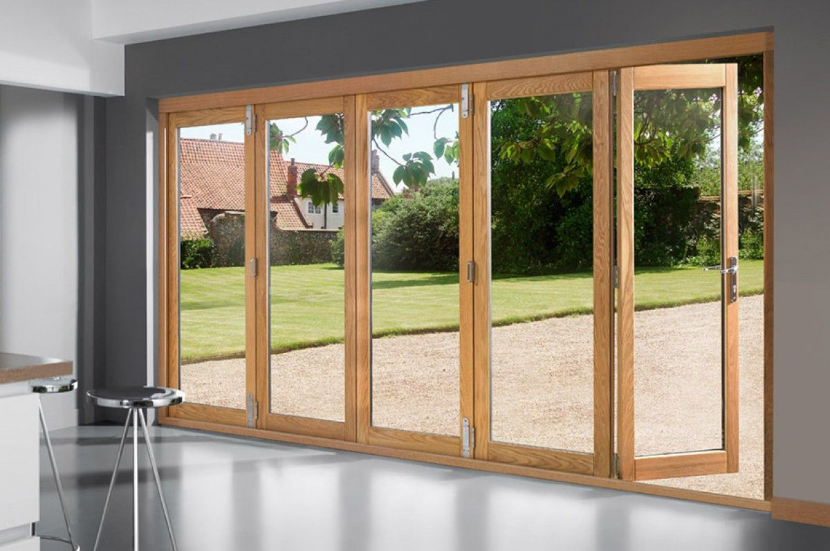 Openvu Deluxe 3590mm Approx 12ft Oak Bi Fold Doors Exterior Pocket Doors Glass Doors Patio Sliding Glass Doors Patio
