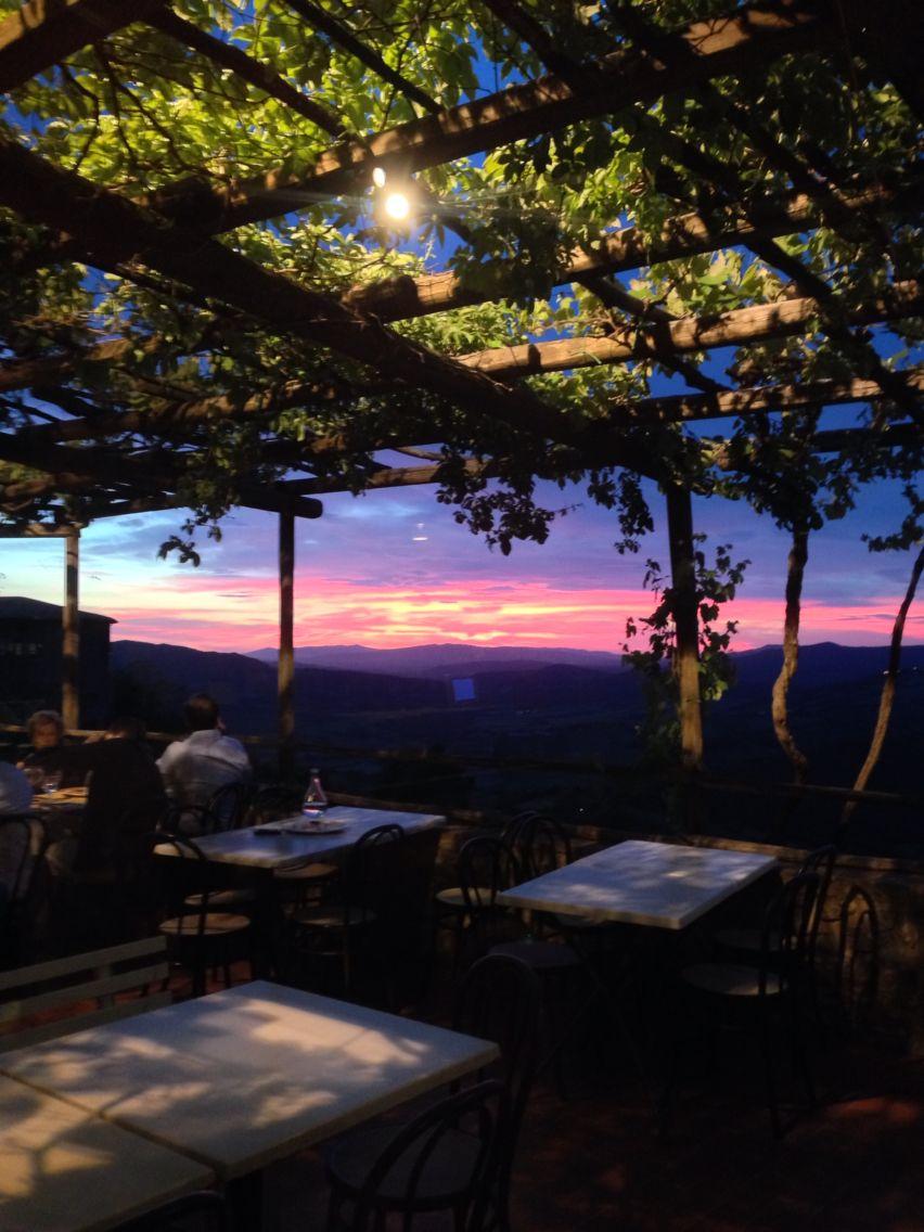 La pergola restaurant. In Radicondoli Italy. Beautiful