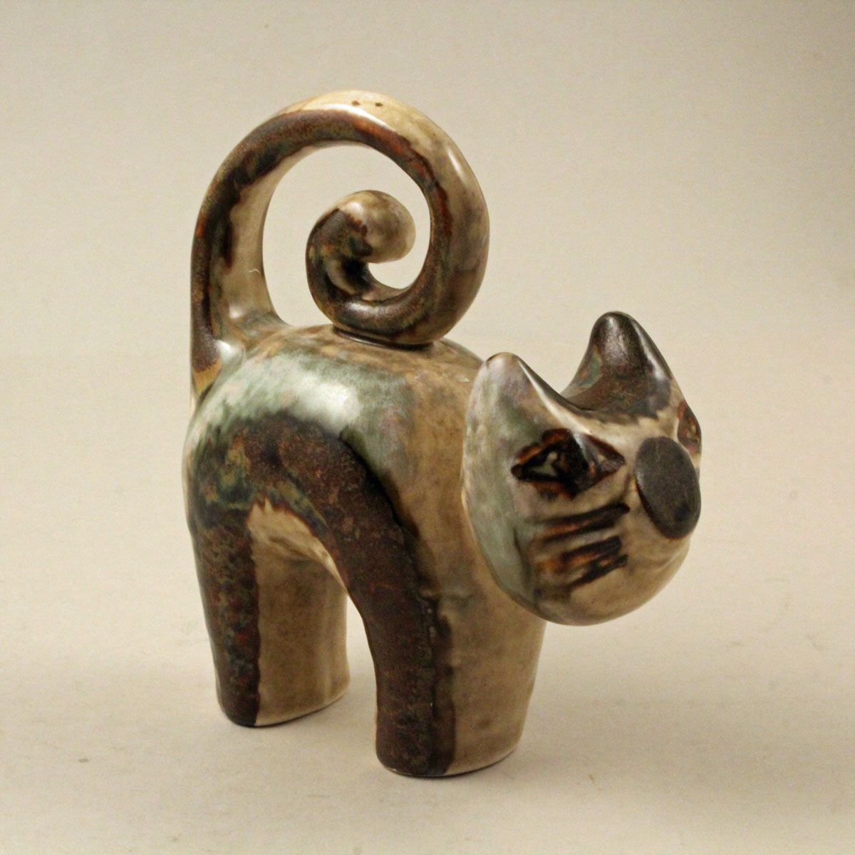 Joseph Simon Cat Sculpture S\u00f8holm Soholm Made In Denmark Studio Pottery Ceramic Folk Art Cat Figurine Danish Art S\u00f8holm Stent\u00f8j