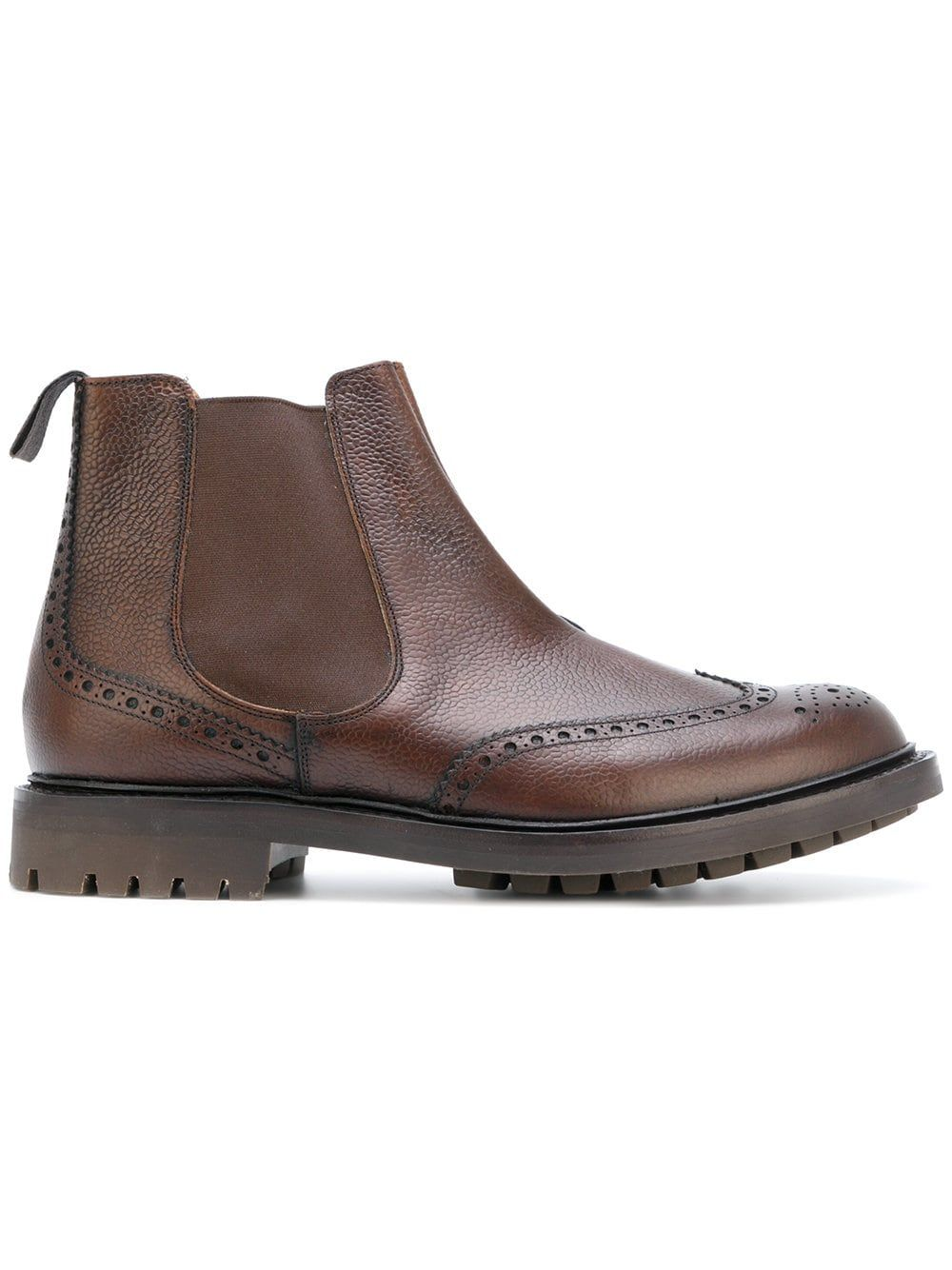 ca289224dbc3d Church's brogue detail Chelsea boots (Ravenfield with commando sole ...