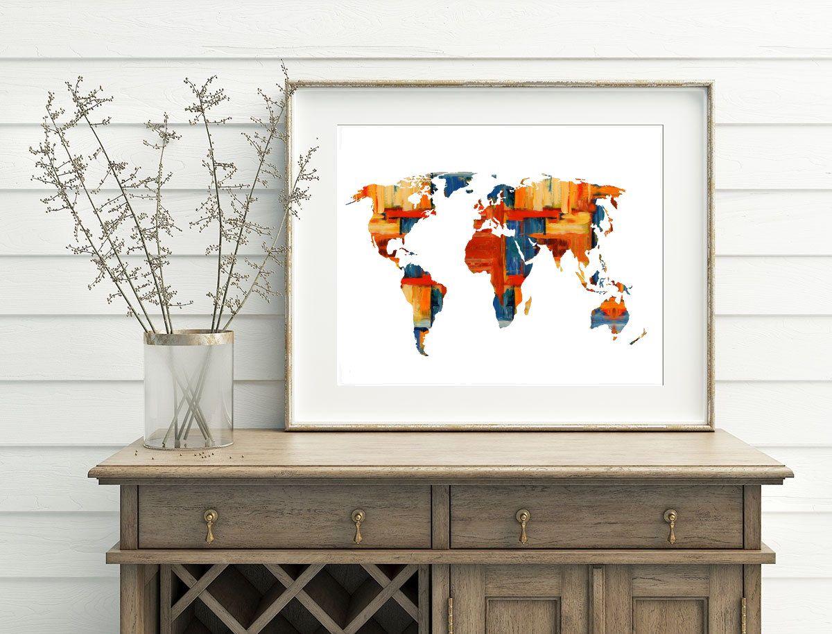 World map printable 10x8 7x5 home decor map decor painting world map world map printable 10x8 7x5 home decor map decor painting world map wall art red gumiabroncs Images